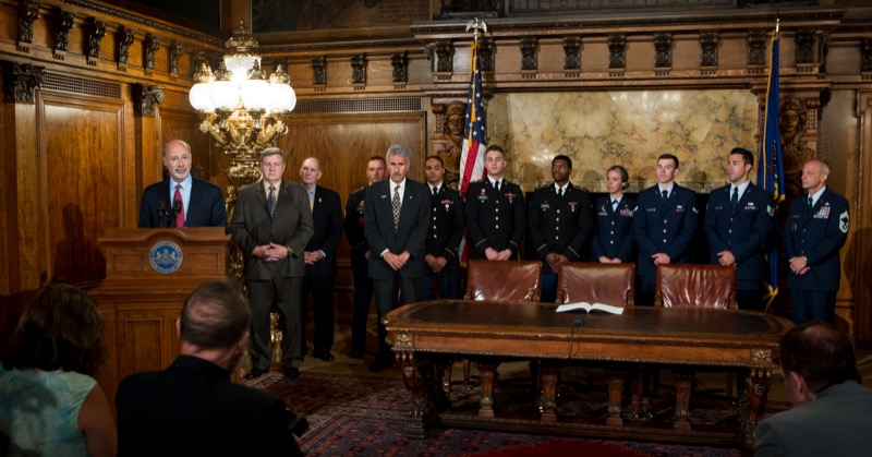 Governor Tom Wolf Today Signed The So Called Stolen Valor Bill Into Law,  Protecting Benefits For Pennsylvania Veterans.