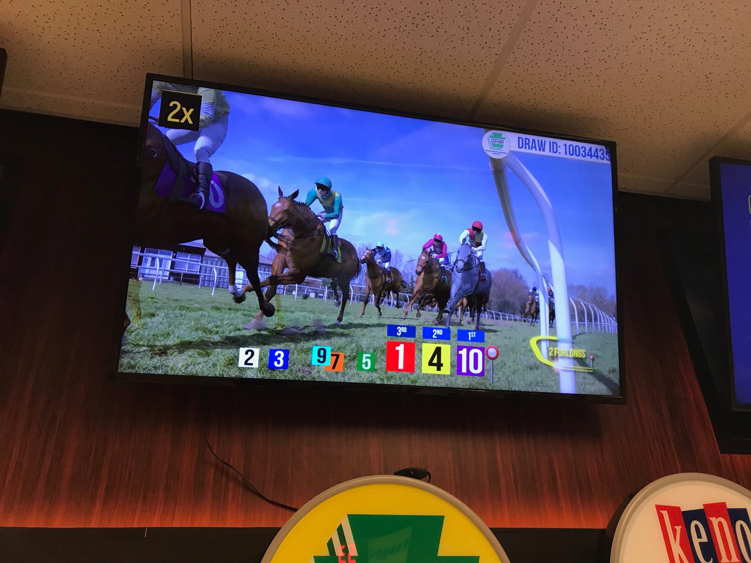 """<a href=""""http://filesource.abacast.com/commonwealthofpa/photo/17265_Lottery_Derby_Cash_NK_001.JPG"""" target=""""_blank"""">⇣Download Photo<br></a>The Pennsylvania Lottery today launched Derby Cash Horse Racing, a new and highly anticipated virtual horse racing game that will have players on the edge of their seats. Every five minutes, players have the chance to win up to $800,000 on a $1 play. Purchases can be made anywhere Lottery games are sold and races can be watched at nearly 2,000 of the Lotterys retailers, mainly at bars and restaurants."""