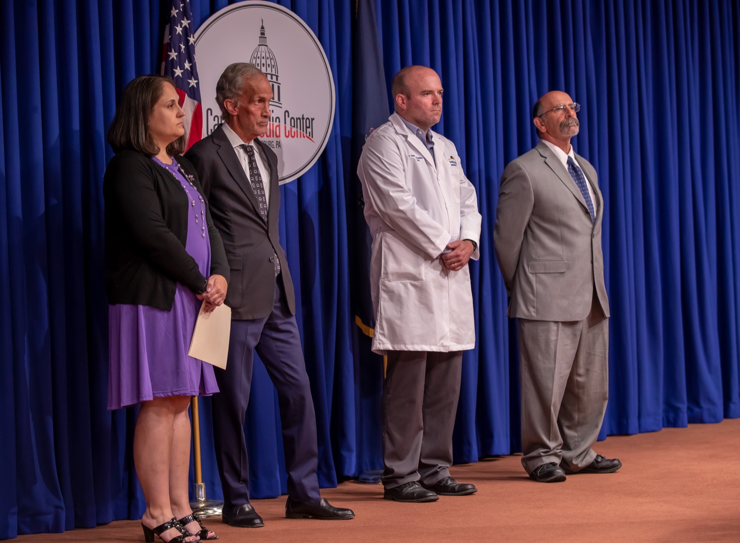 "<a href=""http://filesource.abacast.com/commonwealthofpa/photo/17415_DOH_RXGuidlines_AG_06.jpg"" target=""_blank"">⇣ Download Photo<br></a>Harrisburg, PA.  Wolf Administration officials today joined health care providers to announce the latest updated prescribing guideline, Treating Pain in Patients with OUD, as part of the second Stop Overdoses in PA: Get Help Now Week, a statewide initiative to get the overdose reversal medication naloxone to Pennsylvanians and get help for residents suffering from the disease of opioid use disorder (OUD).  September 18, 2019"