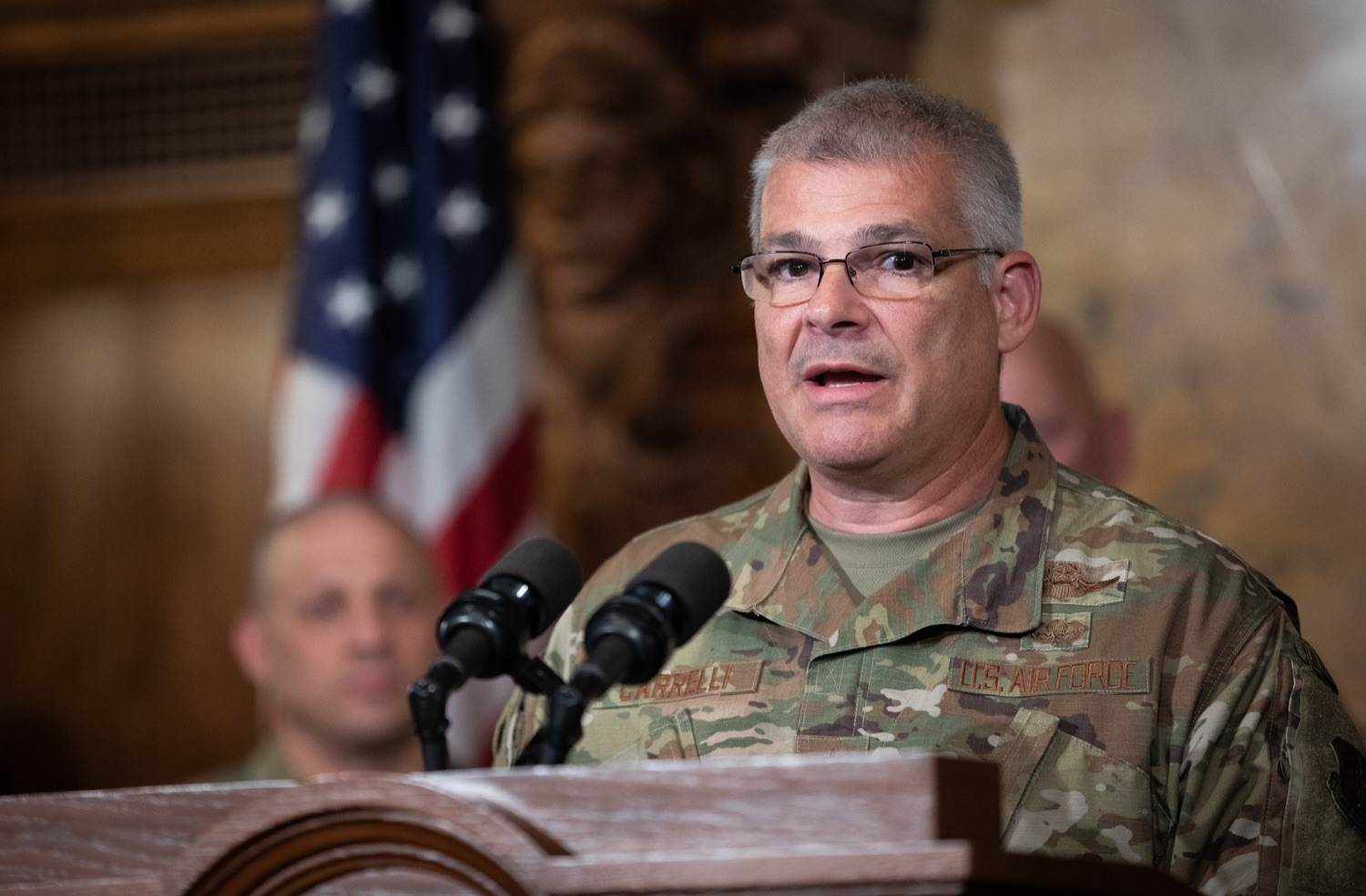 "<a href=""http://filesource.abacast.com/commonwealthofpa/photo/17423_gov_trip_recap_dz_004.jpg"" target=""_blank"">⇣ Download Photo<br></a>Harrisburg, PA  Adjutant General Maj. General Tony Carrelli about his recent visit to Lithuania and Poland. Governor Tom Wolf today highlighted the second half of his trip abroad, including visiting with more than 500 PA National Guard (PNG) troops in Poland, and honoring the Tree of Life synagogue victims at the Auschwitz-Birkenau Memorial. Tuesday, September 17, 2019"