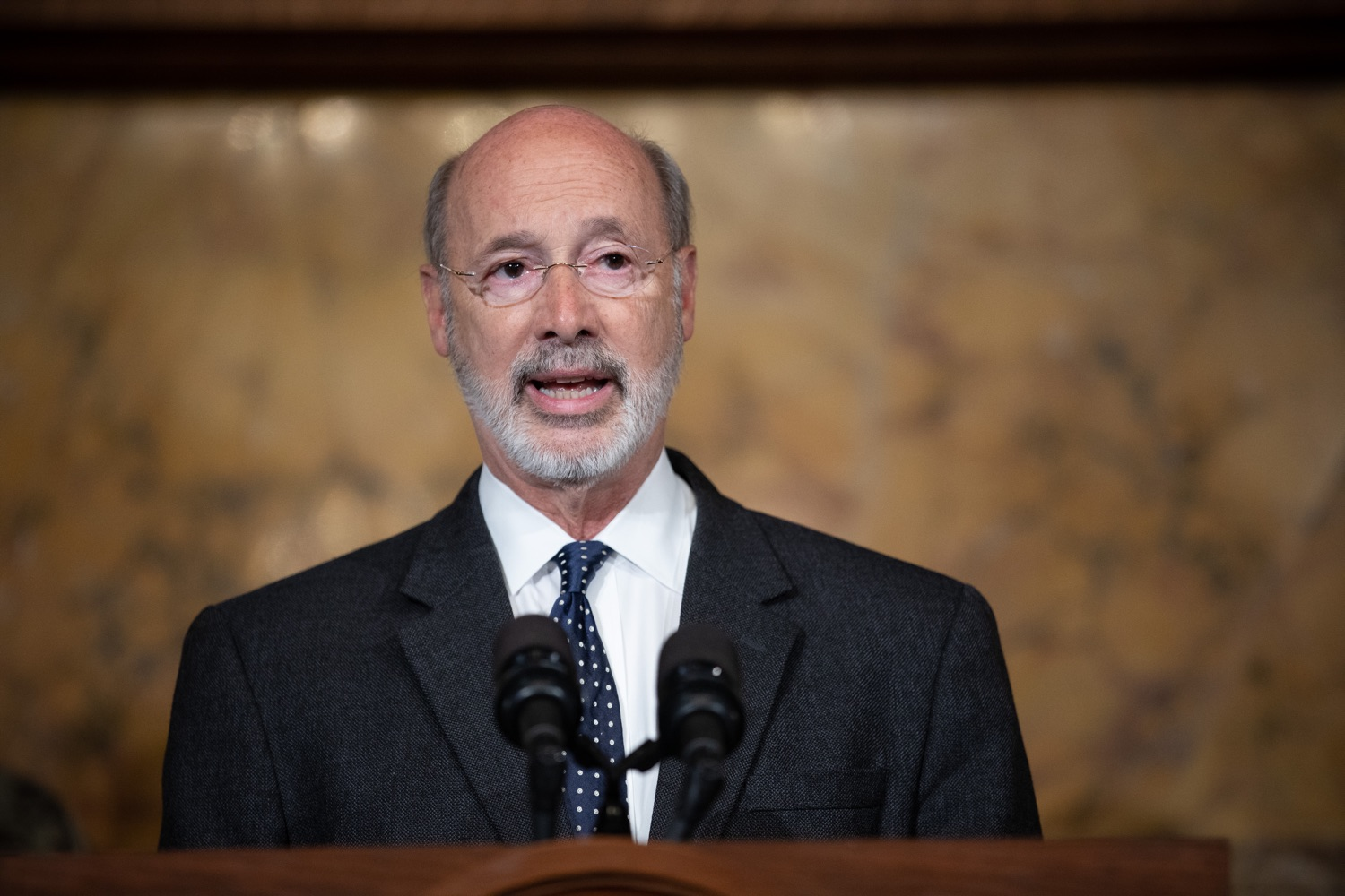 "<a href=""http://filesource.abacast.com/commonwealthofpa/photo/17423_gov_trip_recap_dz_006.jpg"" target=""_blank"">⇣ Download Photo<br></a>Harrisburg, PA Governor Tom Wolf speaking about his recent visit to Lithuania and Poland.    Governor Tom Wolf today highlighted the second half of his trip abroad, including visiting with more than 500 PA National Guard (PNG) troops in Poland, and honoring the Tree of Life synagogue victims at the Auschwitz-Birkenau Memorial. Tuesday, September 17, 2019"