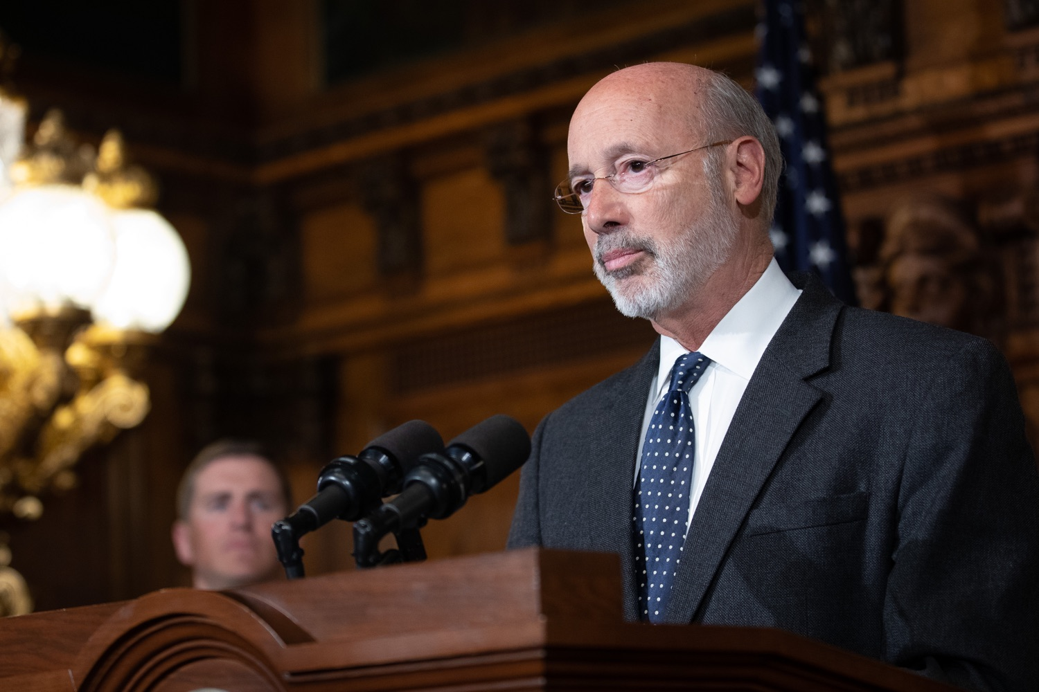 "<a href=""http://filesource.abacast.com/commonwealthofpa/photo/17423_gov_trip_recap_dz_008.jpg"" target=""_blank"">⇣ Download Photo<br></a>Harrisburg, PA  Governor Tom Wolf speaking about his recent visit to Lithuania and Poland.  Governor Tom Wolf today highlighted the second half of his trip abroad, including visiting with more than 500 PA National Guard (PNG) troops in Poland, and honoring the Tree of Life synagogue victims at the Auschwitz-Birkenau Memorial. Tuesday, September 17, 2019"