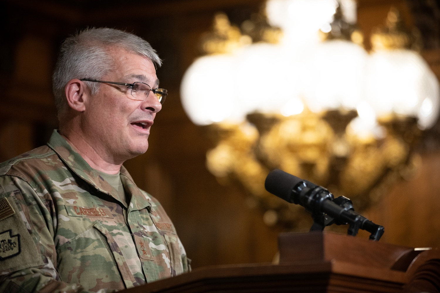 "<a href=""http://filesource.abacast.com/commonwealthofpa/photo/17423_gov_trip_recap_dz_013.jpg"" target=""_blank"">⇣ Download Photo<br></a>Harrisburg, PA  Adjutant General Maj. General Tony Carrelli about his recent visit to Lithuania and Poland. Governor Tom Wolf today highlighted the second half of his trip abroad, including visiting with more than 500 PA National Guard (PNG) troops in Poland, and honoring the Tree of Life synagogue victims at the Auschwitz-Birkenau Memorial. Tuesday, September 17, 2019"