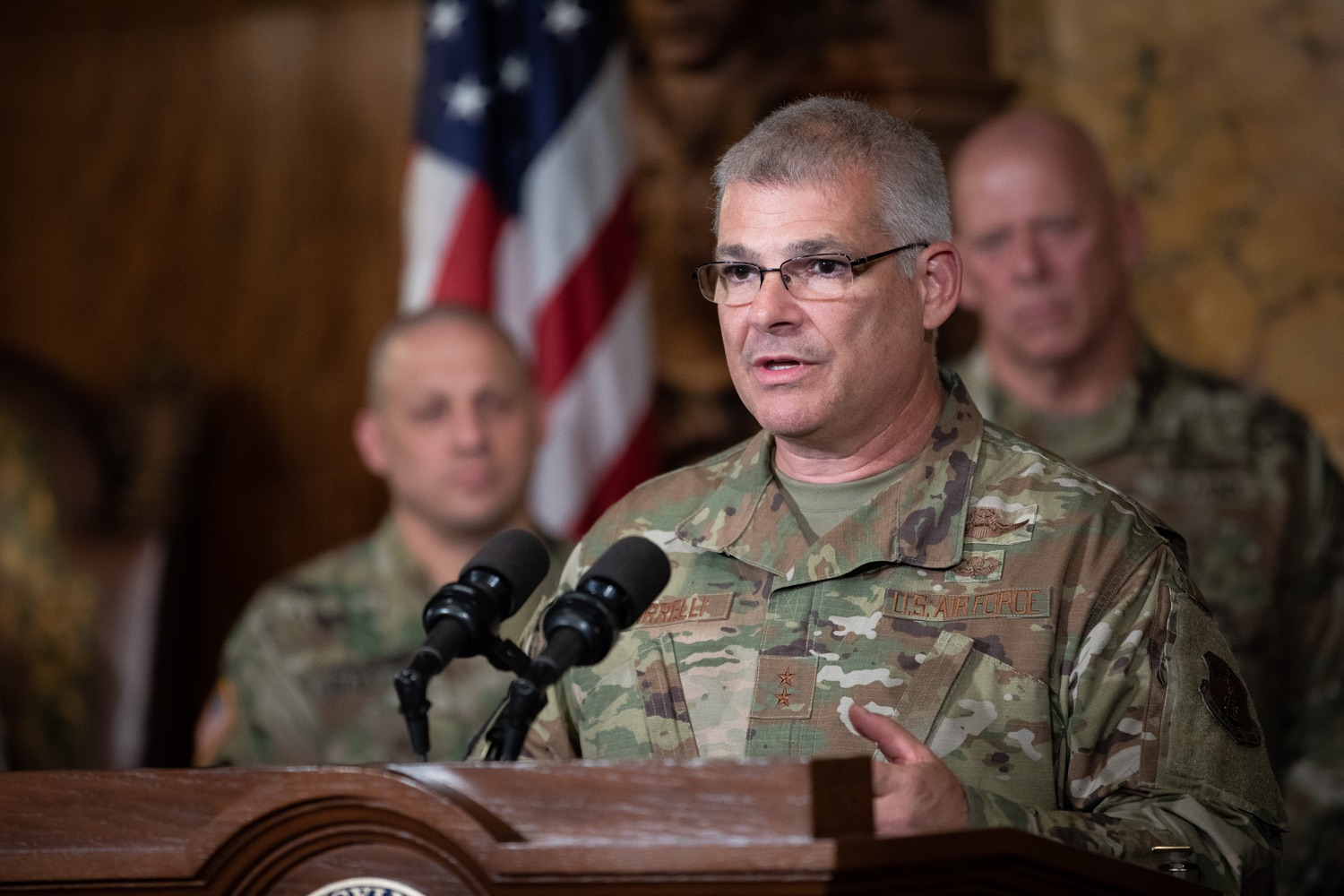 "<a href=""http://filesource.abacast.com/commonwealthofpa/photo/17423_gov_trip_recap_dz_016.jpg"" target=""_blank"">⇣ Download Photo<br></a>Harrisburg, PA  Adjutant General Maj. General Tony Carrelli about his recent visit to Lithuania and Poland. Governor Tom Wolf today highlighted the second half of his trip abroad, including visiting with more than 500 PA National Guard (PNG) troops in Poland, and honoring the Tree of Life synagogue victims at the Auschwitz-Birkenau Memorial. Tuesday, September 17, 2019"