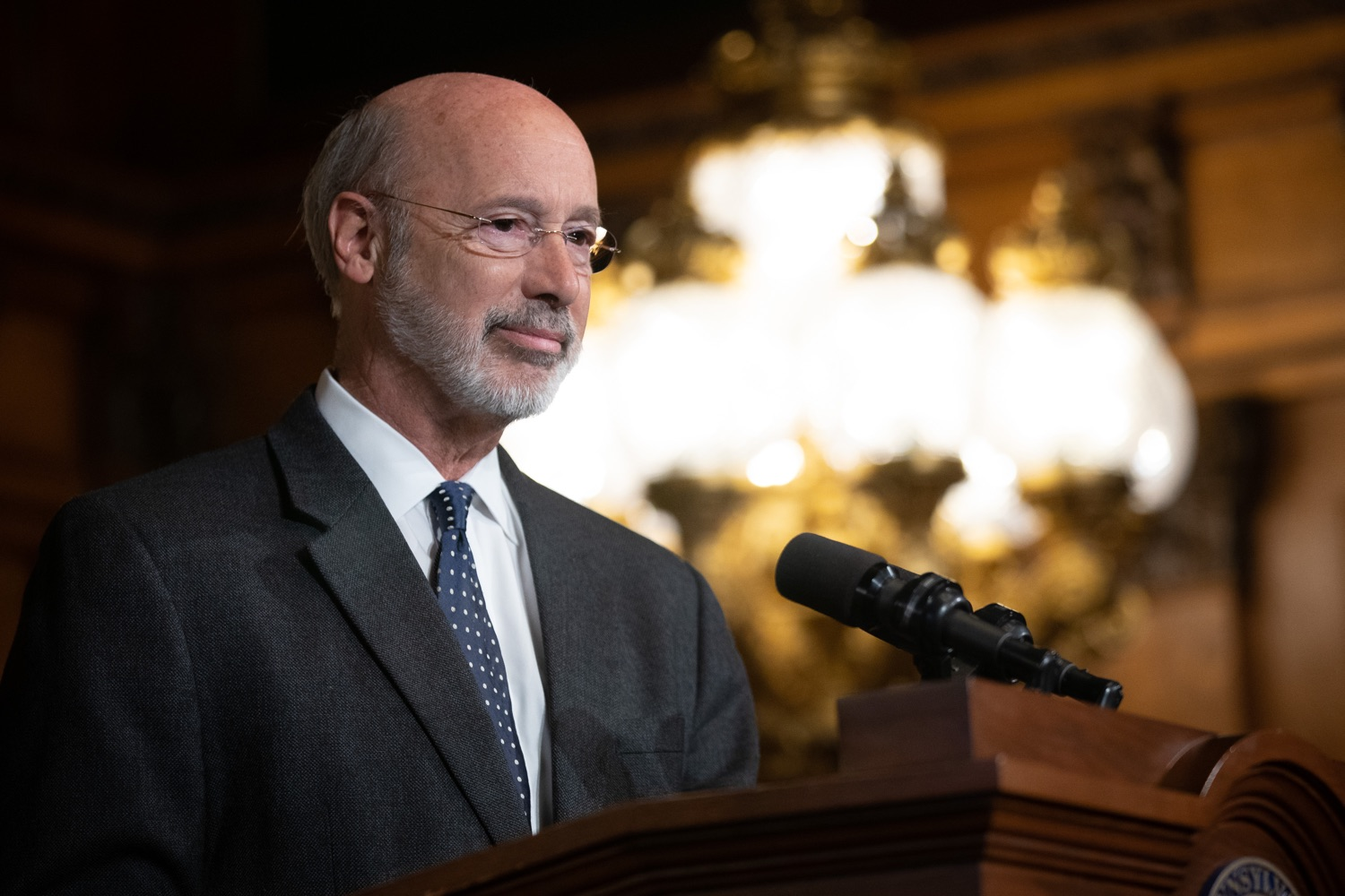 "<a href=""http://filesource.abacast.com/commonwealthofpa/photo/17423_gov_trip_recap_dz_017.jpg"" target=""_blank"">⇣ Download Photo<br></a>Harrisburg, PA  Governor Tom Wolf speaking about his recent visit to Lithuania and Poland.  Governor Tom Wolf today highlighted the second half of his trip abroad, including visiting with more than 500 PA National Guard (PNG) troops in Poland, and honoring the Tree of Life synagogue victims at the Auschwitz-Birkenau Memorial.  Tuesday, September 17, 2019"