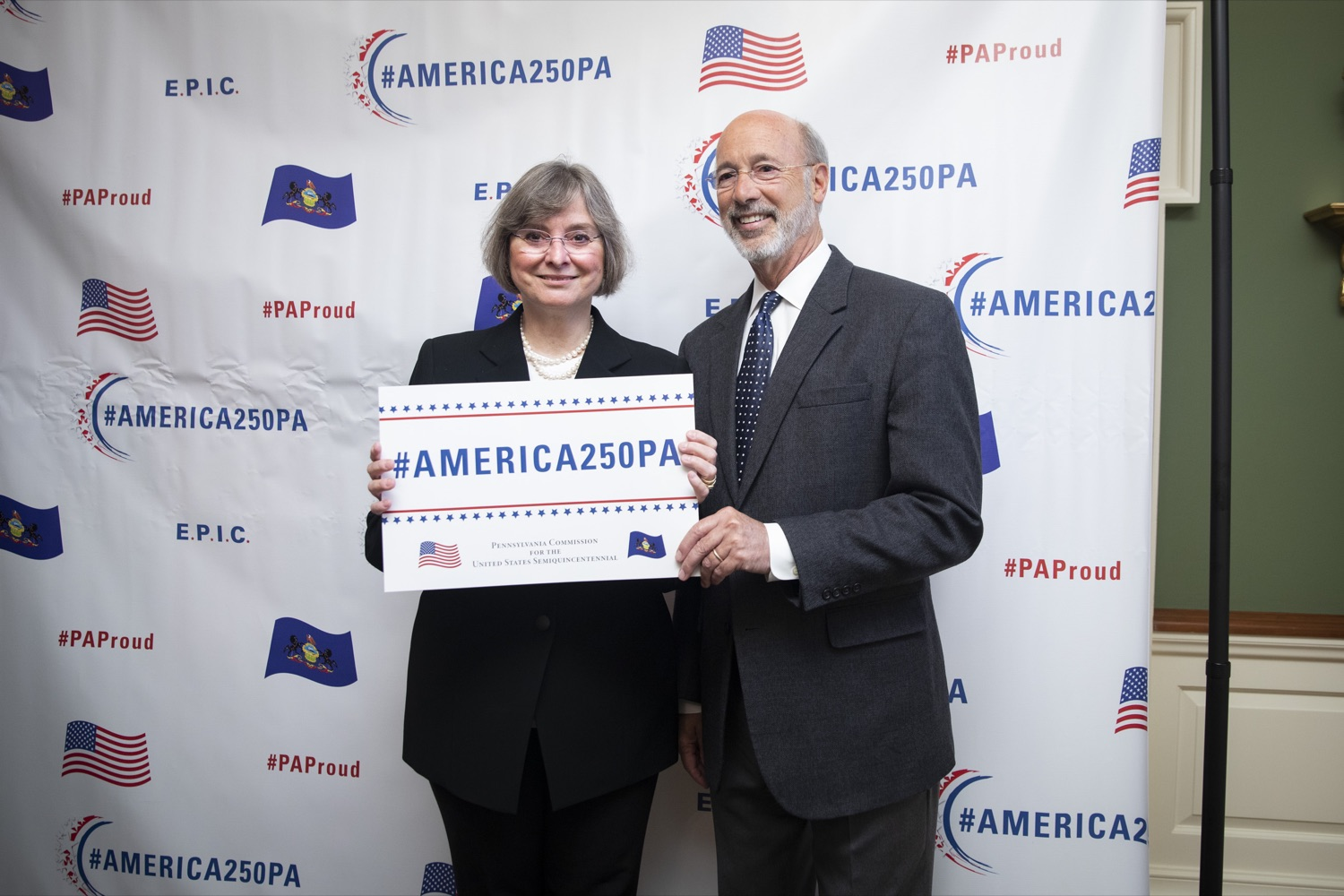 """<a href=""""http://filesource.abacast.com/commonwealthofpa/photo/17424_GOV_AMERICA250_CZ_05.JPG"""" target=""""_blank"""">⇣Download Photo<br></a>Pennsylvania officially recognized the members of the America250PA commission at a swearing-in ceremony held at the Governors Residence on September 17, 2019."""