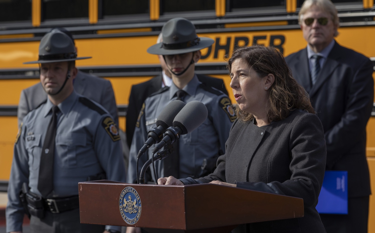 """<a href=""""http://filesource.abacast.com/commonwealthofpa/photo/17458_pdot_safeStop_0014.jpg"""" target=""""_blank"""">⇣Download Photo<br></a>Wolf Administration Stresses School Bus Safety, Announces Results of Enforcement Initiative"""
