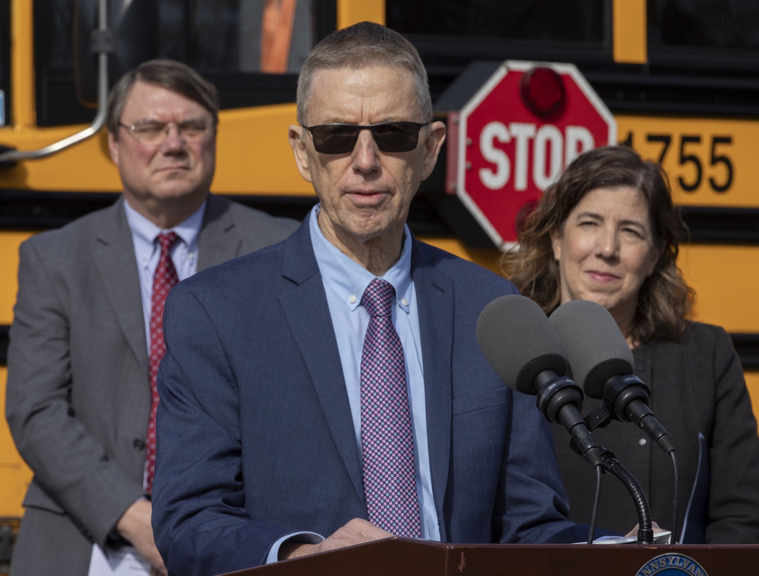 """<a href=""""http://filesource.abacast.com/commonwealthofpa/photo/17458_pdot_safeStop_0017.jpg"""" target=""""_blank"""">⇣Download Photo<br></a>Wolf Administration Stresses School Bus Safety, Announces Results of Enforcement Initiative"""