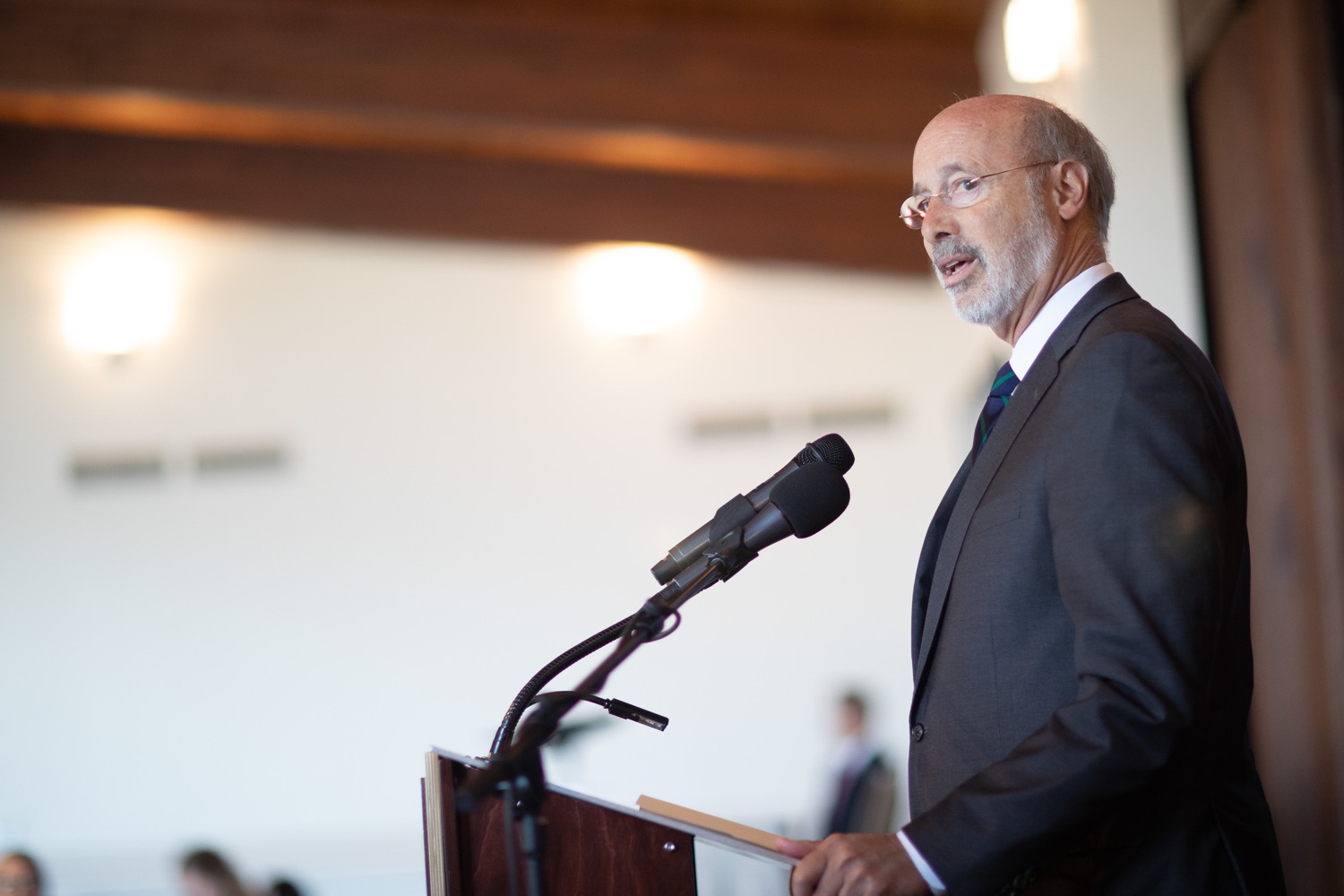 "<a href=""http://filesource.abacast.com/commonwealthofpa/photo/17467_gov_opioids_dz_002.JPG"" target=""_blank"">⇣ Download Photo<br></a>Boalsburg, PA  Governor Tom Wolf addressing the summit. Governor Tom Wolf today kicked off his administrations first Opioid Command Center Opioid Summit: Think Globally, Act Locally, which brought together 200 individuals helping their communities fight the opioid crisis, including community organizations, non-profits, schools, health care workers, addiction and recovery specialists, and families affected by the opioid crisis.  Tuesday, October 1, 2019"