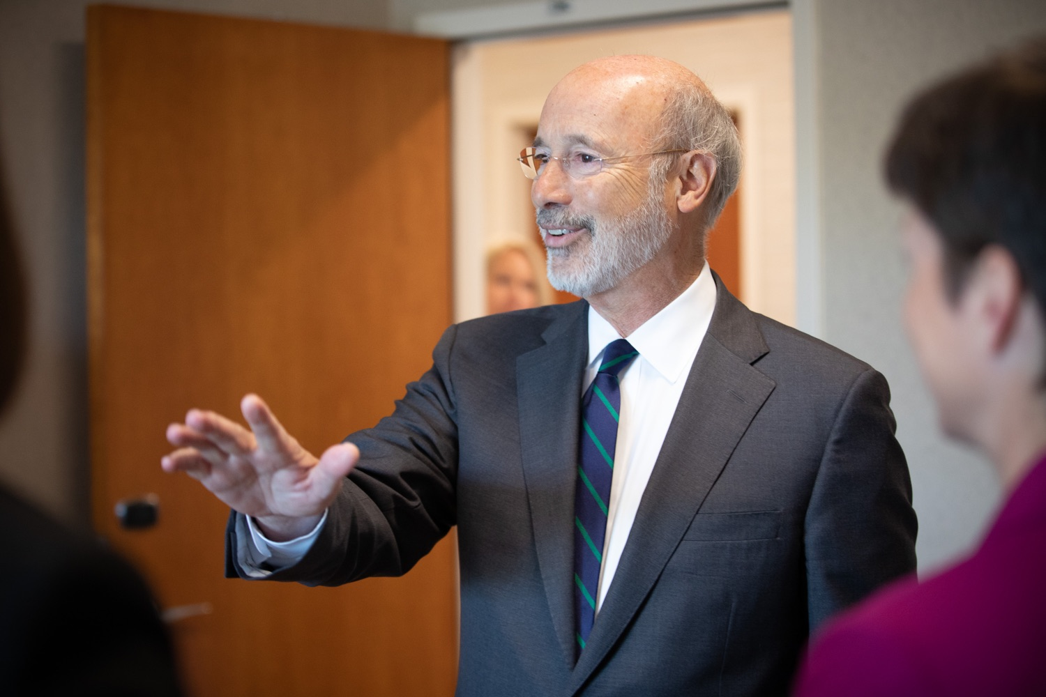 "<a href=""http://filesource.abacast.com/commonwealthofpa/photo/17467_gov_opioids_dz_009.JPG"" target=""_blank"">⇣ Download Photo<br></a>Boalsburg, PA  Governor Tom Wolf speaking with summit attendees. Governor Tom Wolf today kicked off his administrations first Opioid Command Center Opioid Summit: Think Globally, Act Locally, which brought together 200 individuals helping their communities fight the opioid crisis, including community organizations, non-profits, schools, health care workers, addiction and recovery specialists, and families affected by the opioid crisis.  Tuesday, October 1, 2019"