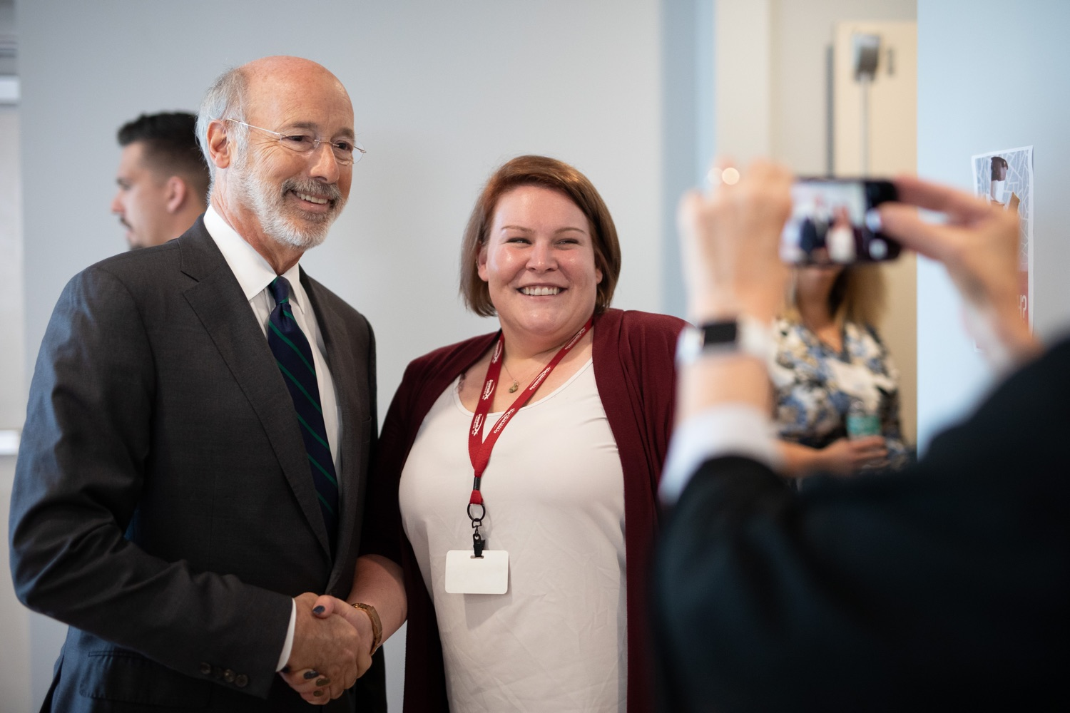 "<a href=""http://filesource.abacast.com/commonwealthofpa/photo/17467_gov_opioids_dz_010.JPG"" target=""_blank"">⇣ Download Photo<br></a>Boalsburg, PA  Governor Tom Wolf posing for a photo with summit attendees. Governor Tom Wolf today kicked off his administrations first Opioid Command Center Opioid Summit: Think Globally, Act Locally, which brought together 200 individuals helping their communities fight the opioid crisis, including community organizations, non-profits, schools, health care workers, addiction and recovery specialists, and families affected by the opioid crisis.  Tuesday, October 1, 2019"