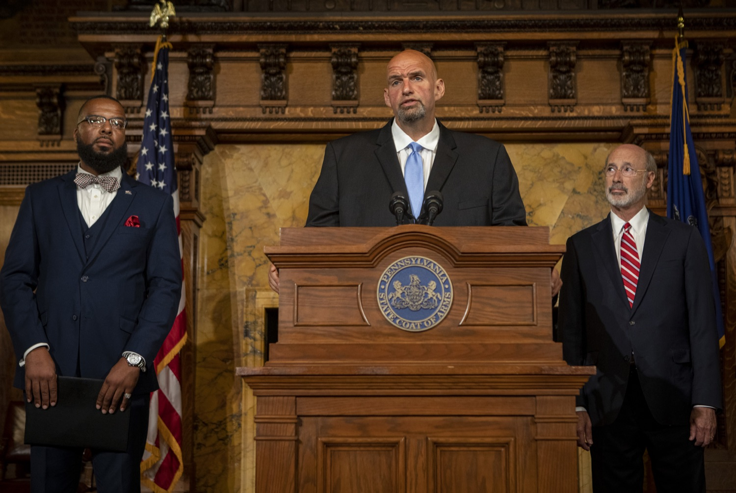 "<a href=""http://filesource.abacast.com/commonwealthofpa/photo/17468_GOV_BOP_DE_005.jpg"" target=""_blank"">⇣ Download Photo<br></a>Gov. Wolf, Lt. Gov, Pardons Board Provide Update on Pardons Process, Benefit to Those with Marijuana Convictions"
