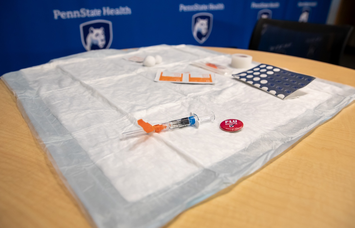 "<a href=""http://filesource.abacast.com/commonwealthofpa/photo/17471_DOH_FluSeason_AG_05.jpg"" target=""_blank"">⇣ Download Photo<br></a>Harrisburg, PA.  At an event at the Penn State Health Milton S. Hershey Medical Center today, the Department of Health reminded residents that it is time to get their flu vaccine, as flu season officially starts this month and runs until May. Secretary of Health Dr. Rachel Levine encouraged residents to get their flu vaccine before the end of October and offered important tips to stay healthy during flu season.  October 8, 2019."