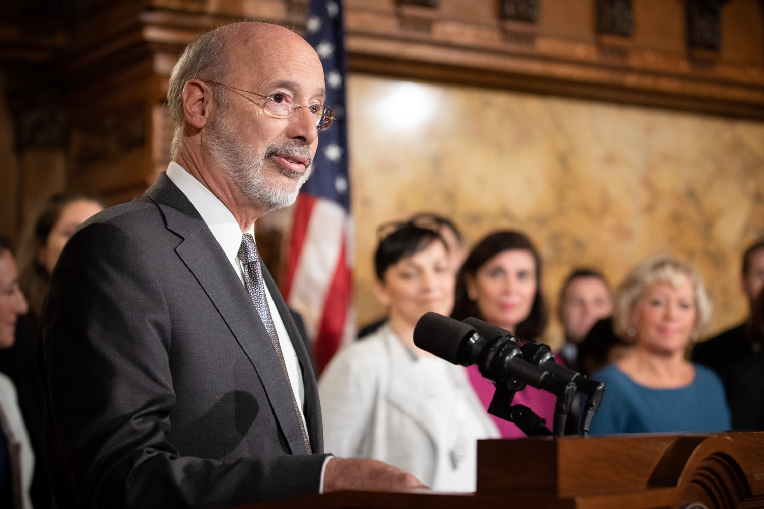 "<a href=""http://filesource.abacast.com/commonwealthofpa/photo/17554_gov_voter_reform_bill_dz_005.jpg"" target=""_blank"">⇣ Download Photo<br></a>Harrisburg, PA  Governor Tom Wolf speaks at the Election Reform Bill signing. Governor Wolf made voting more convenient and secure by signing Act 77 of 2019, the most significant improvement to Pennsylvanias elections in more than 80 years. The bipartisan compromise legislation takes effect for the April 2020 primary election and makes Pennsylvania a national leader with voter-friendly election reforms."