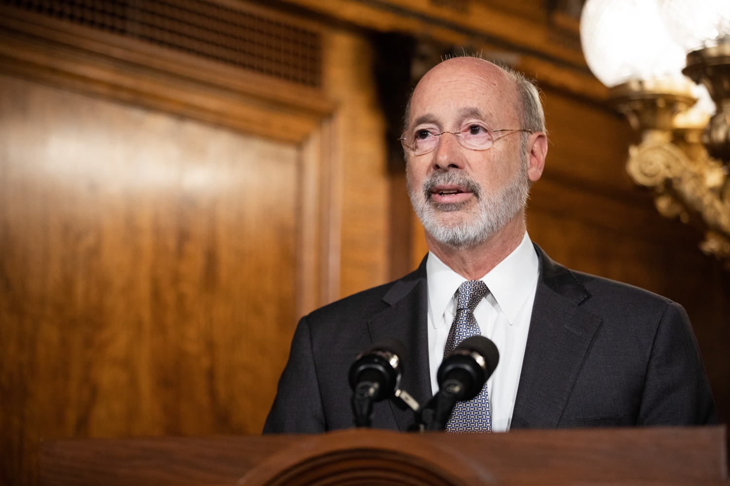 "<a href=""http://filesource.abacast.com/commonwealthofpa/photo/17554_gov_voter_reform_bill_dz_006.jpg"" target=""_blank"">⇣ Download Photo<br></a>Harrisburg, PA  Governor Tom Wolf speaks at the Election Reform Bill signing. Governor Wolf made voting more convenient and secure by signing Act 77 of 2019, the most significant improvement to Pennsylvanias elections in more than 80 years. The bipartisan compromise legislation takes effect for the April 2020 primary election and makes Pennsylvania a national leader with voter-friendly election reforms."
