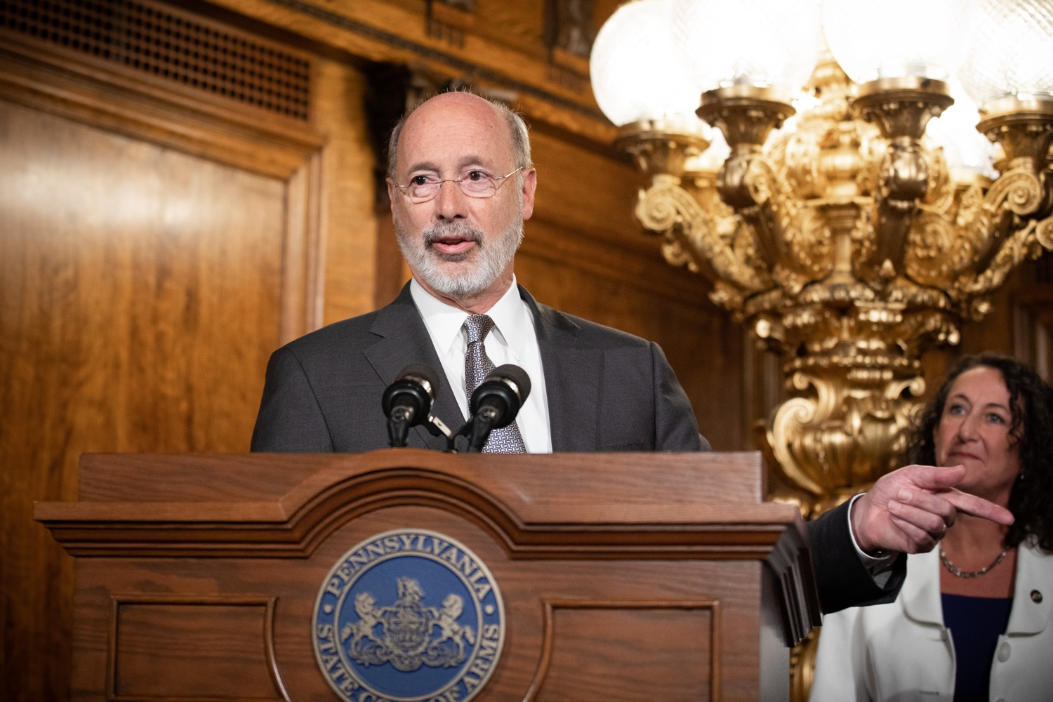 "<a href=""http://filesource.abacast.com/commonwealthofpa/photo/17554_gov_voter_reform_bill_dz_014.jpg"" target=""_blank"">⇣ Download Photo<br></a>Harrisburg, PA  Governor Tom Wolf speaks at the Election Reform Bill signing. Governor Wolf made voting more convenient and secure by signing Act 77 of 2019, the most significant improvement to Pennsylvanias elections in more than 80 years. The bipartisan compromise legislation takes effect for the April 2020 primary election and makes Pennsylvania a national leader with voter-friendly election reforms."