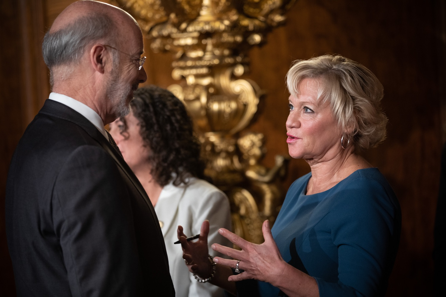 "<a href=""http://filesource.abacast.com/commonwealthofpa/photo/17554_gov_voter_reform_bill_dz_015.jpg"" target=""_blank"">⇣ Download Photo<br></a>Harrisburg, PA  Sen. Lisa Boscola and Governor Tom Wolf  at the Election Reform Bill signing. Governor Wolf made voting more convenient and secure by signing Act 77 of 2019, the most significant improvement to Pennsylvanias elections in more than 80 years. The bipartisan compromise legislation takes effect for the April 2020 primary election and makes Pennsylvania a national leader with voter-friendly election reforms."