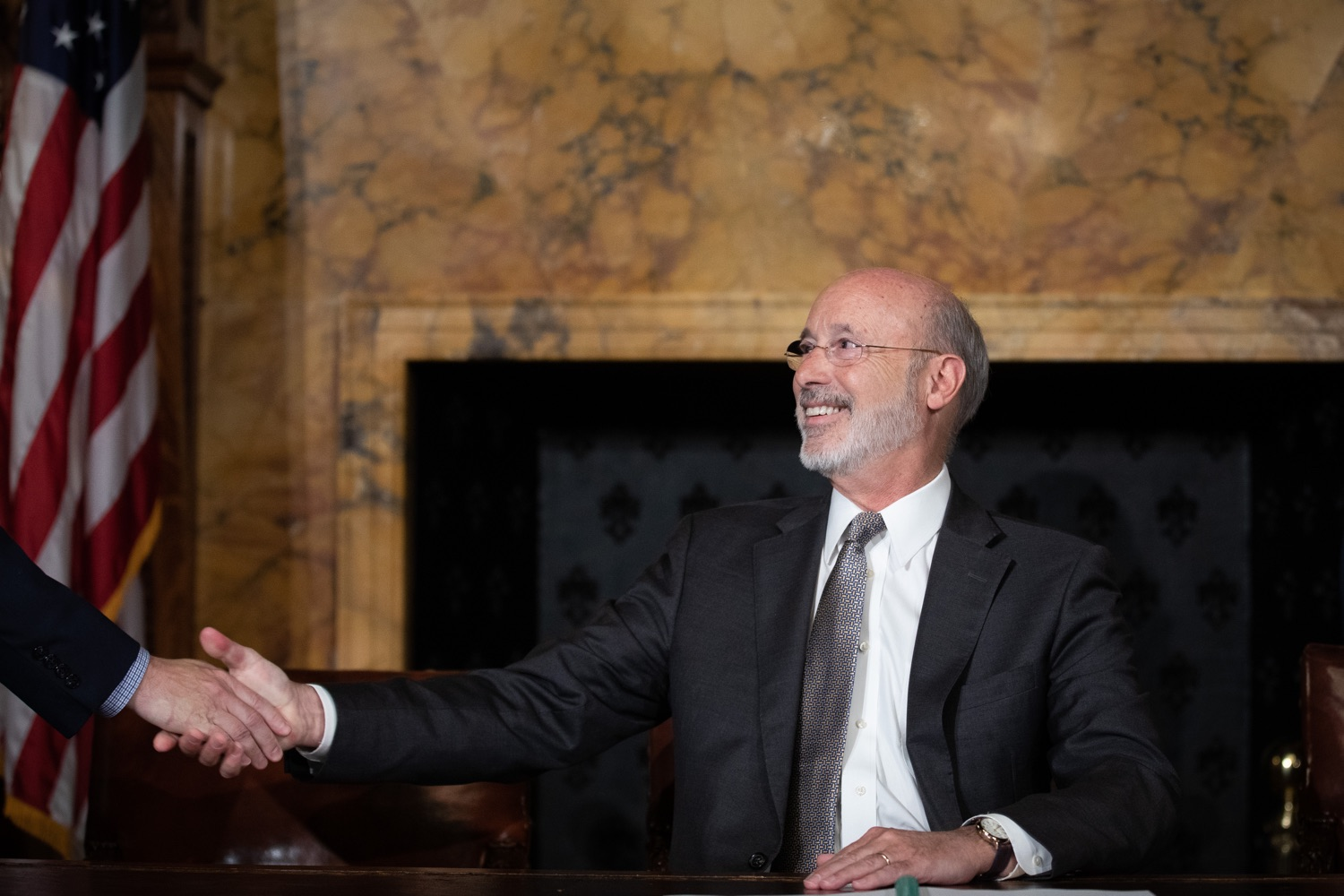 "<a href=""http://filesource.abacast.com/commonwealthofpa/photo/17554_gov_voter_reform_bill_dz_016.jpg"" target=""_blank"">⇣ Download Photo<br></a>Harrisburg, PA  Governor Tom Wolf speaks at the Election Reform Bill signing. Governor Wolf made voting more convenient and secure by signing Act 77 of 2019, the most significant improvement to Pennsylvanias elections in more than 80 years. The bipartisan compromise legislation takes effect for the April 2020 primary election and makes Pennsylvania a national leader with voter-friendly election reforms."