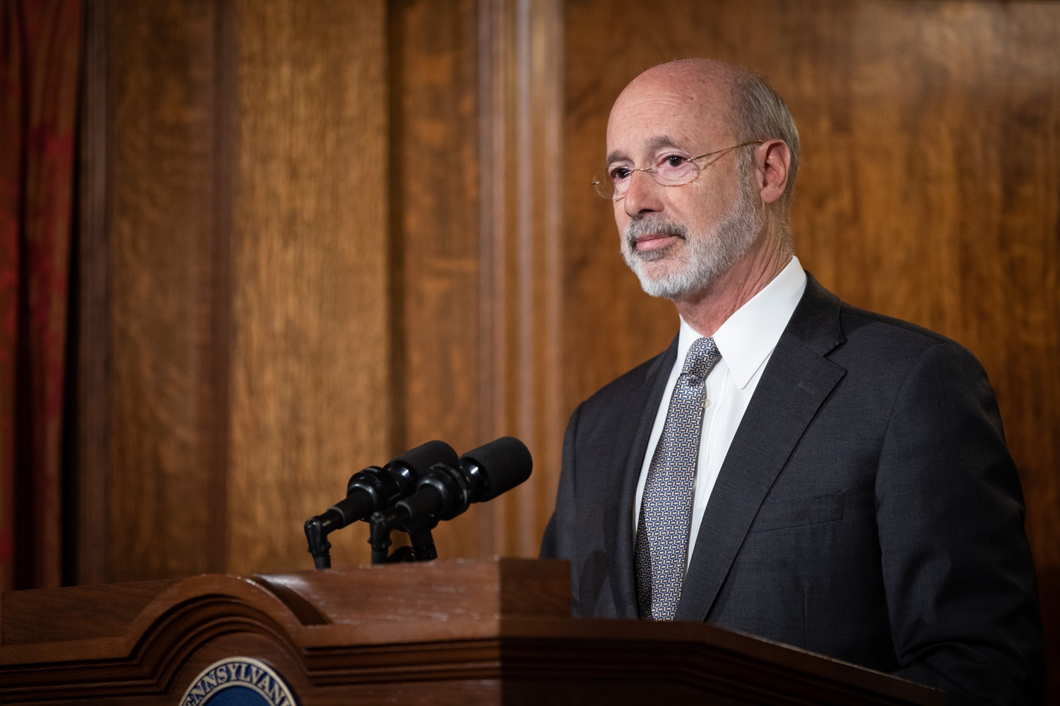 "<a href=""http://filesource.abacast.com/commonwealthofpa/photo/17554_gov_voter_reform_bill_dz_017.jpg"" target=""_blank"">⇣ Download Photo<br></a>Harrisburg, PA  Governor Tom Wolf speaks at the Election Reform Bill signing. Governor Wolf made voting more convenient and secure by signing Act 77 of 2019, the most significant improvement to Pennsylvanias elections in more than 80 years. The bipartisan compromise legislation takes effect for the April 2020 primary election and makes Pennsylvania a national leader with voter-friendly election reforms."