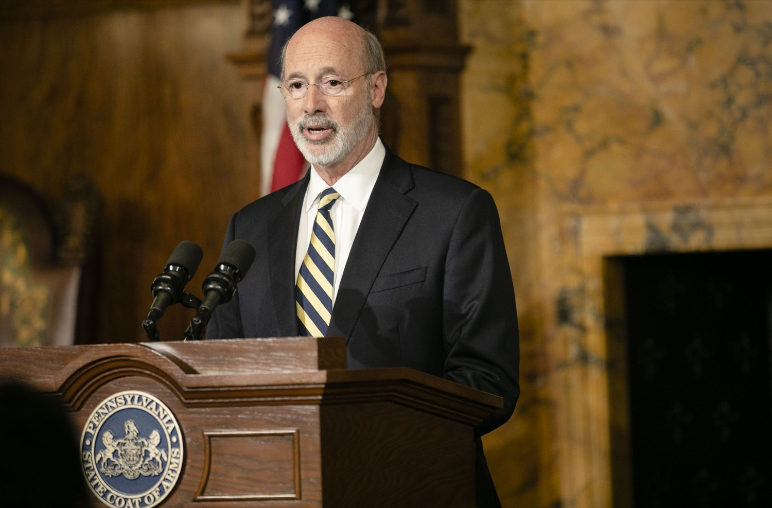 "<a href=""http://filesource.abacast.com/commonwealthofpa/photo/17564_GOV_aca_amb_005.jpg"" target=""_blank"">⇣ Download Photo<br></a>Governor Tom Wolf and Insurance Commissioner Jessica Altman advised Pennsylvanians that now is the time to buy health insurance on the federal exchange, healthcare.gov, as open enrollment continues for Affordable Care Act (ACA) plans through Dec. 15. Consumers have more options in Pennsylvania, and many will find they qualify for subsidies. November 7, 2019. Harrisburg, PA."