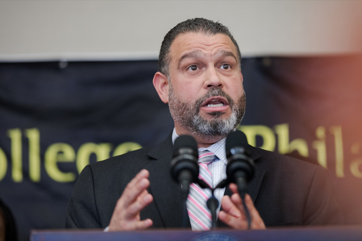 "<a href=""http://filesource.abacast.com/commonwealthofpa/photo/17592_EDU_Aspiring_NK_003.JPG"" target=""_blank"">⇣ Download Photo<br></a>Pennsylvania Department of Education Secretary Pedro A. Rivera speaks during a press conference, announcing the School District of Philadelphia's new pilot program, Aspiring to Educate, that aims to cultivate and diversify the citys educator pool, inside Community College of Philadelphia's Center for Business and Industry on Wednesday, November 20, 2019."