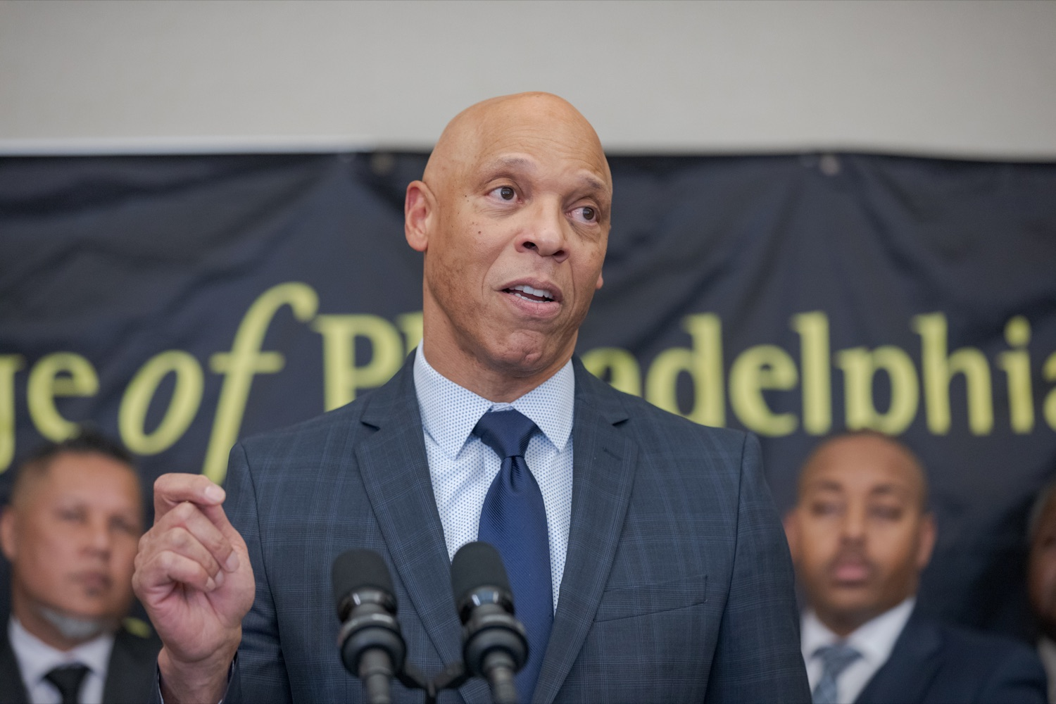 "<a href=""http://filesource.abacast.com/commonwealthofpa/photo/17592_EDU_Aspiring_NK_008.JPG"" target=""_blank"">⇣ Download Photo<br></a>Dr. William Hite, the superintendent of the School District of Philadelphia, speaks during a press conference, announcing the School District of Philadelphia's new pilot program, Aspiring to Educate, that aims to cultivate and diversify the citys educator pool, inside Community College of Philadelphia's Center for Business and Industry on Wednesday, November 20, 2019."