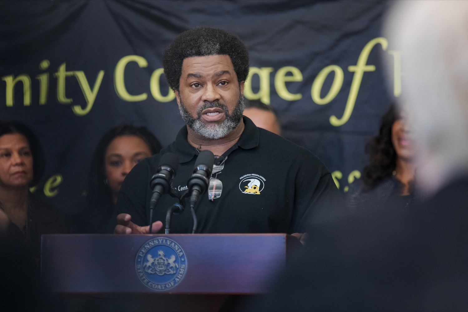 "<a href=""http://filesource.abacast.com/commonwealthofpa/photo/17592_EDU_Aspiring_NK_015.JPG"" target=""_blank"">⇣ Download Photo<br></a>Sharif El-Mekki, founder of the Center for Black Educator Development, speaks during a press conference, announcing the School District of Philadelphia's new pilot program, Aspiring to Educate, that aims to cultivate and diversify the citys educator pool, inside Community College of Philadelphia's Center for Business and Industry on Wednesday, November 20, 2019."