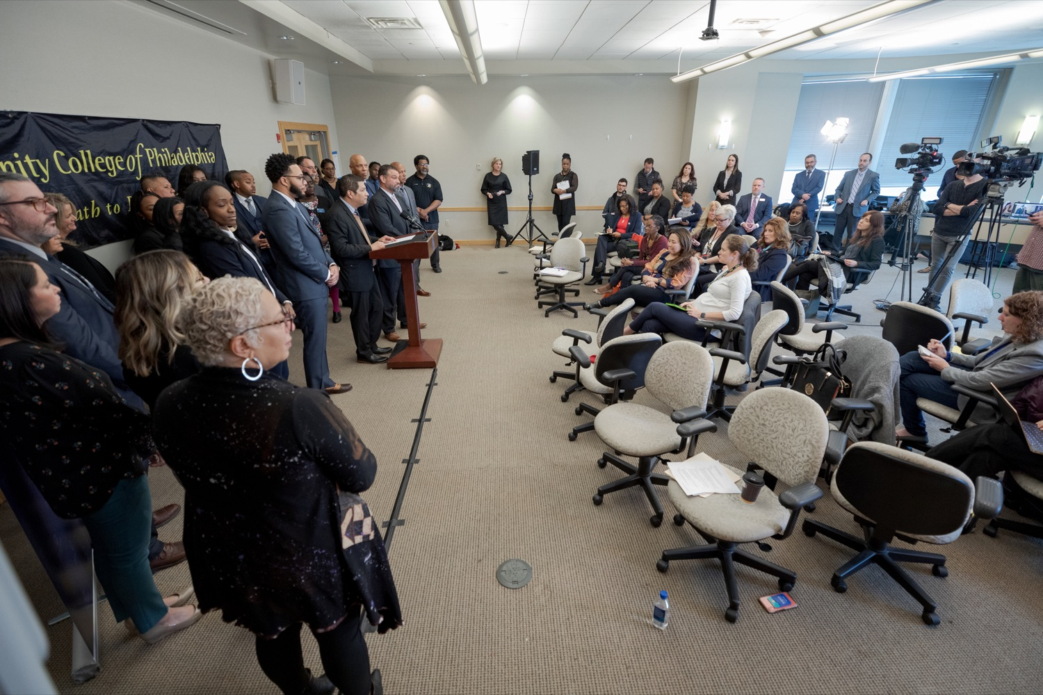 "<a href=""http://filesource.abacast.com/commonwealthofpa/photo/17592_EDU_Aspiring_NK_016.JPG"" target=""_blank"">⇣ Download Photo<br></a>Noe Ortega, Pennsylvania deputy secretary for post secondary and higher education, speaks during a press conference, announcing the School District of Philadelphia's new pilot program, Aspiring to Educate, that aims to cultivate and diversify the citys educator pool, inside Community College of Philadelphia's Center for Business and Industry on Wednesday, November 20, 2019."
