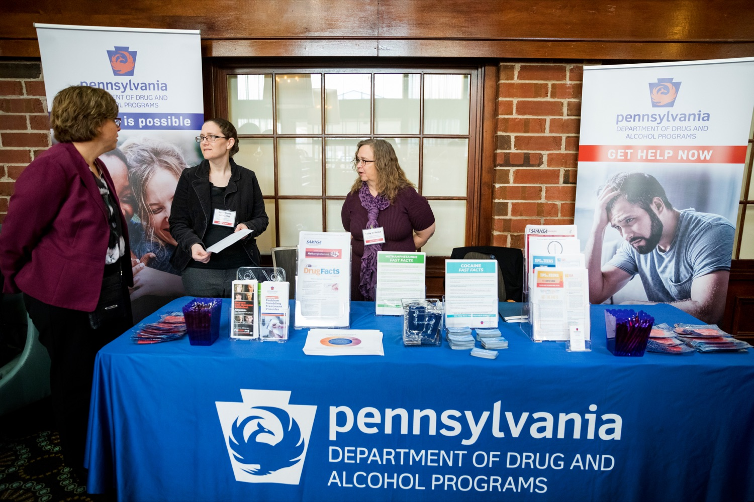 "<a href=""http://filesource.abacast.com/commonwealthofpa/photo/17596_DDAP_Psychostimulants_NK_012.JPG"" target=""_blank"">⇣ Download Photo<br></a>From left;  Department of Drug and Alcohol Program's Kelly Frizen, Sadie Grace Kindt, and Kathy Jo Stence during a symposium addressing the rising trend of stimulant usage across the commonwealth, at the Best Western Premier in Harrisburg on Tuesday, November 19, 2019."
