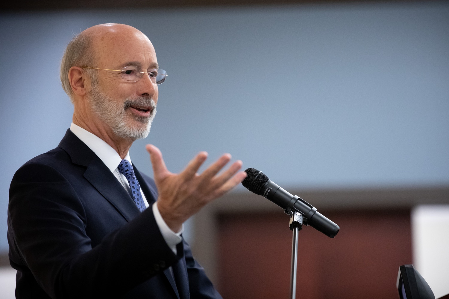 "<a href=""http://filesource.abacast.com/commonwealthofpa/photo/17598_gov_charter_schools_dz_001.jpg"" target=""_blank"">⇣ Download Photo<br></a>Pennsylvania Governor Tom Wolf speaks about charter school reform at a meeting of the Pennsylvania Association of School Administrators.  Governor Tom Wolfs commonsense plan to improve the educational quality of charter schools and control rising costs will save nearly $280 million a year, the governor told the Pennsylvania Association of School Administrators today. The governor has a three-part plan to fix Pennsylvanias charter school law which is regarded as one of the worst in the nation.  - Harrisburg, PA. Friday, November 15, 2019."
