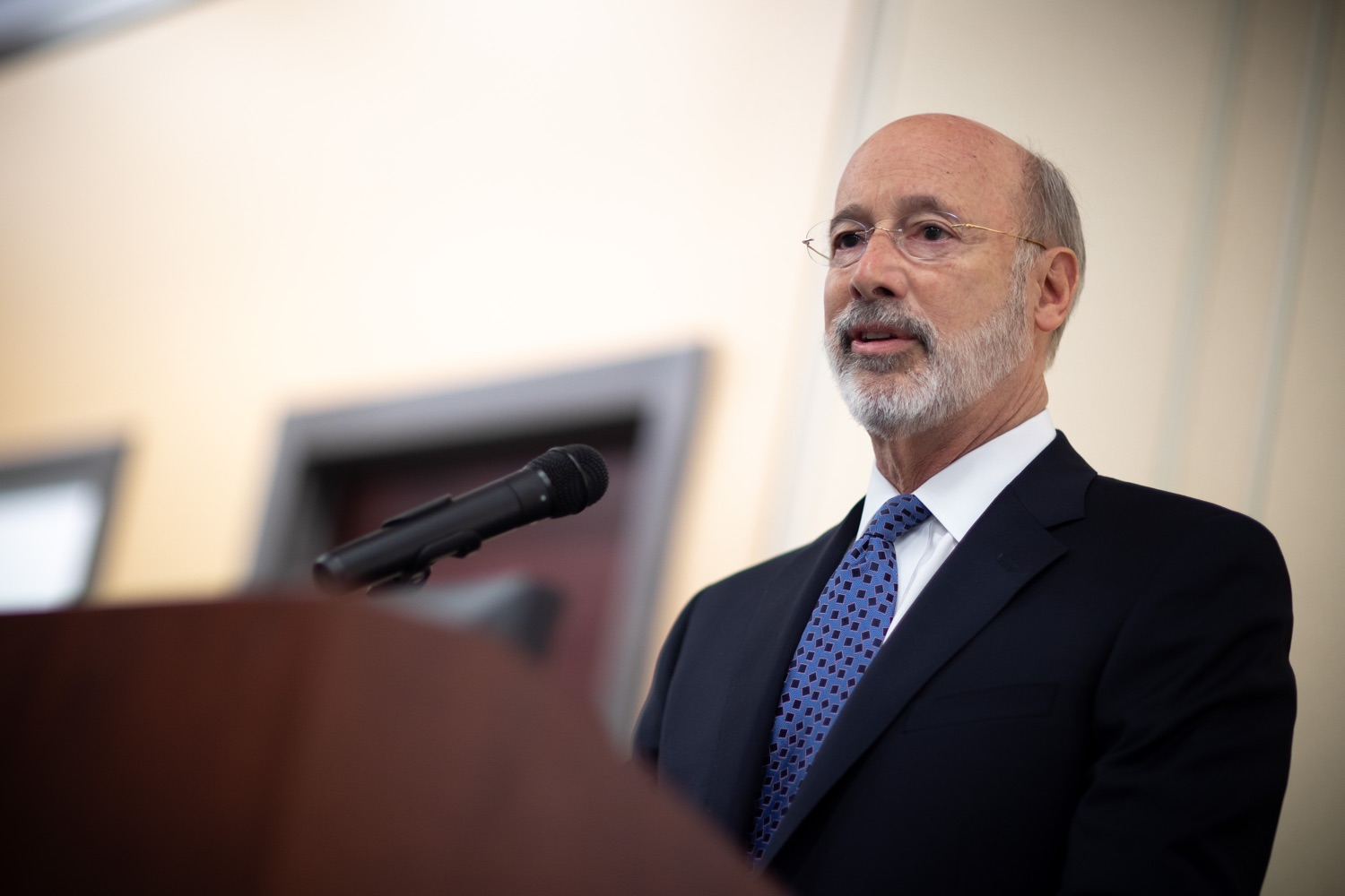 "<a href=""http://filesource.abacast.com/commonwealthofpa/photo/17598_gov_charter_schools_dz_007.jpg"" target=""_blank"">⇣ Download Photo<br></a>Pennsylvania Governor Tom Wolf speaks about charter school reform at a meeting of the Pennsylvania Association of School Administrators.  Governor Tom Wolfs commonsense plan to improve the educational quality of charter schools and control rising costs will save nearly $280 million a year, the governor told the Pennsylvania Association of School Administrators today. The governor has a three-part plan to fix Pennsylvanias charter school law which is regarded as one of the worst in the nation.  - Harrisburg, PA. Friday, November 15, 2019."