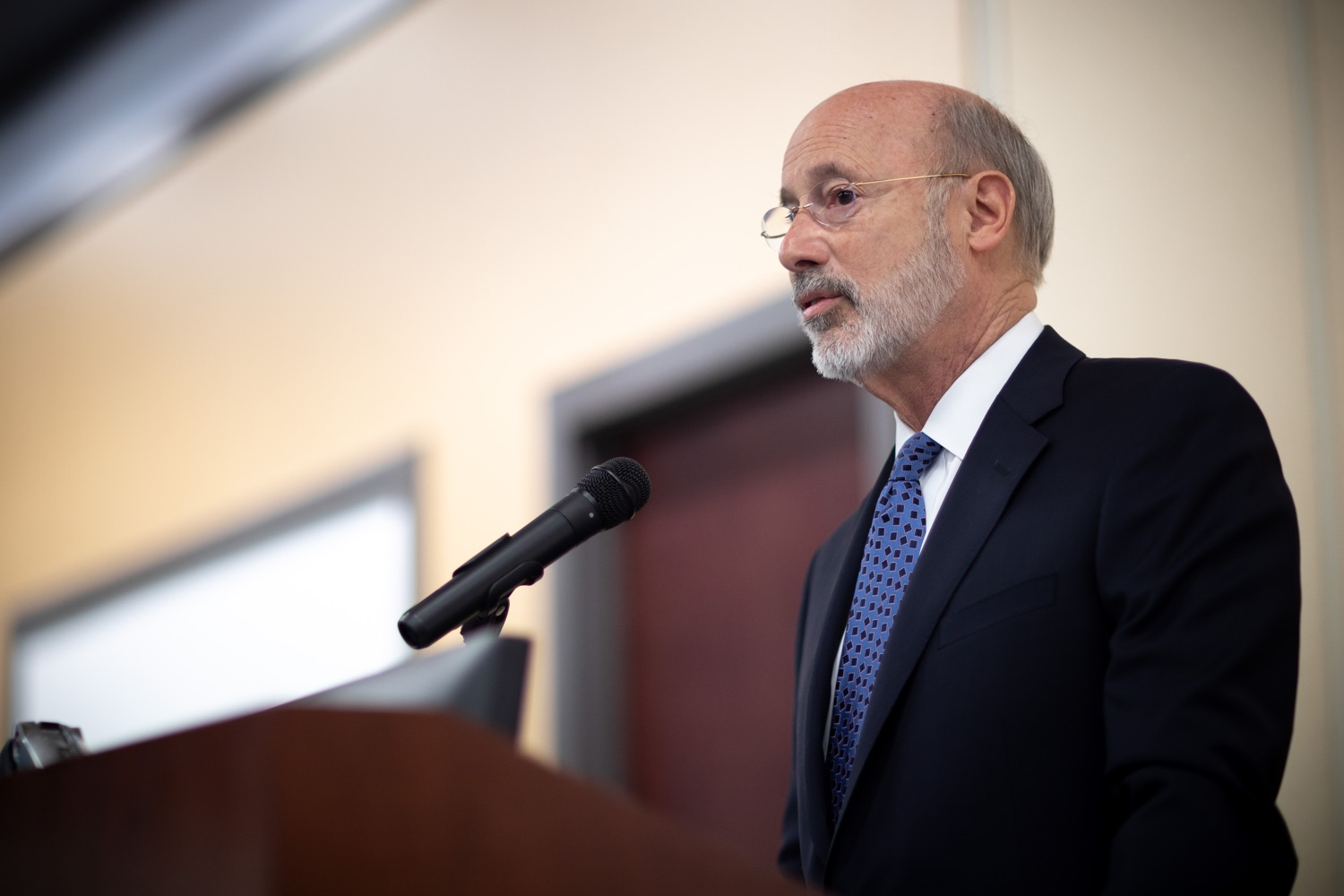 "<a href=""http://filesource.abacast.com/commonwealthofpa/photo/17598_gov_charter_schools_dz_016.jpg"" target=""_blank"">⇣ Download Photo<br></a>Pennsylvania Governor Tom Wolf speaks about charter school reform at a meeting of the Pennsylvania Association of School Administrators.  Governor Tom Wolfs commonsense plan to improve the educational quality of charter schools and control rising costs will save nearly $280 million a year, the governor told the Pennsylvania Association of School Administrators today. The governor has a three-part plan to fix Pennsylvanias charter school law which is regarded as one of the worst in the nation.  - Harrisburg, PA. Friday, November 15, 2019."