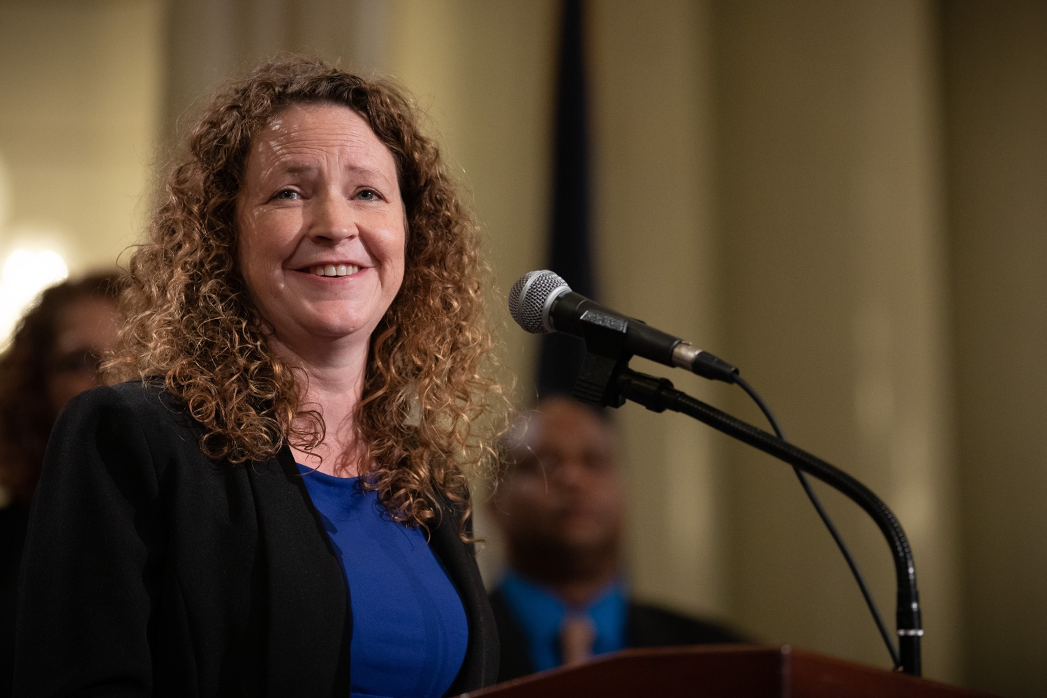 """<a href=""""http://filesource.abacast.com/commonwealthofpa/photo/17601_gov_right_on_crime_dz_010.jpg"""" target=""""_blank"""">⇣Download Photo<br></a>Carrie Pettus-Davis speaking at the event. Governor Tom Wolf was joined by Deputy Secretary of Corrections Christian Stephens and national criminal justice reform advocates today in the Capitol Rotunda to push for commonsense probation reforms that address probation sentences and probation lengths.  Harrisburg, PA  November 18, 2019"""