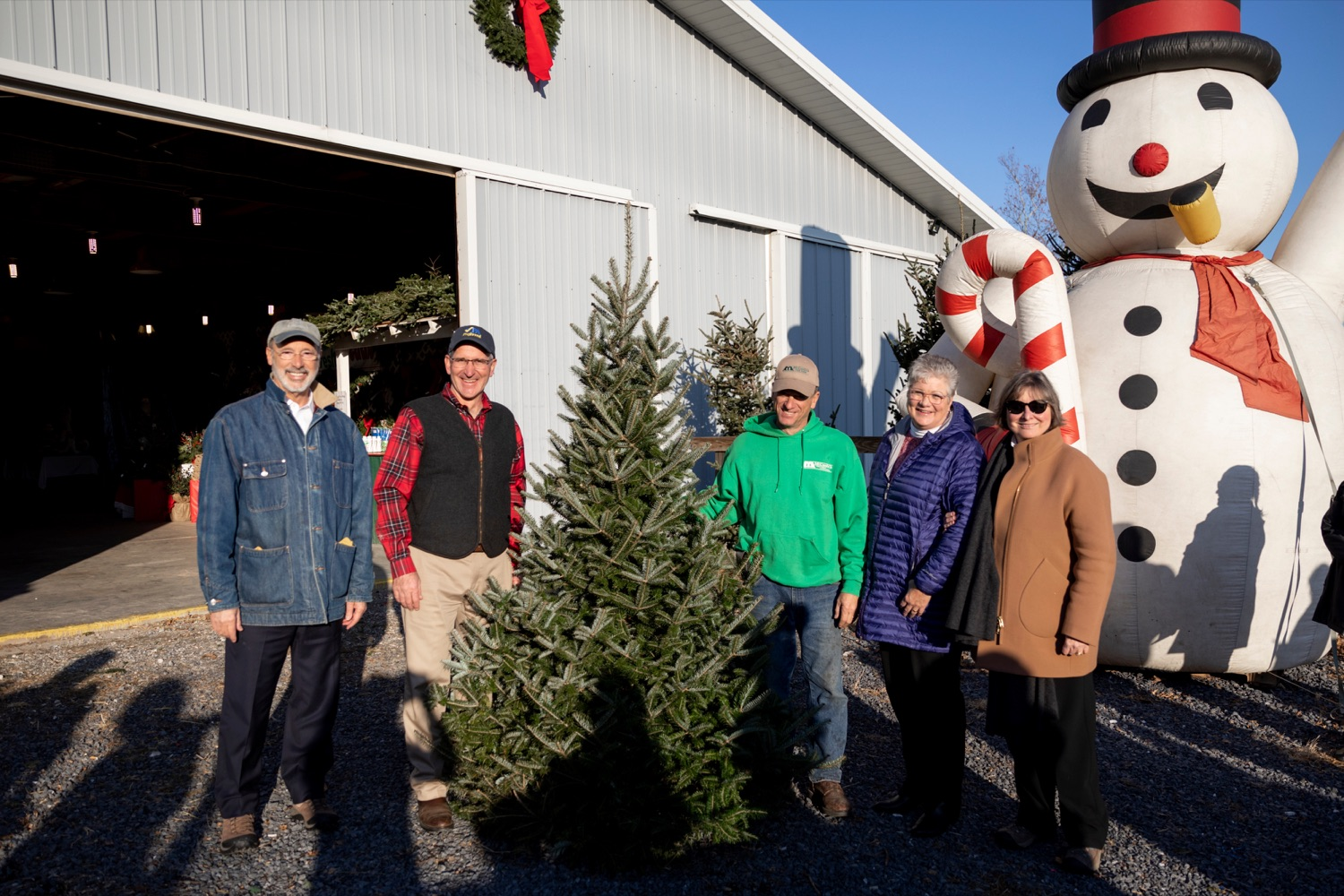 "<a href=""http://filesource.abacast.com/commonwealthofpa/photo/17615_GOV_AGRIC_Christmas_Trees_NK_013.JPG"" target=""_blank"">⇣ Download Photo<br></a>From left; Pennsylvania Governor Tom Wolf; Pennsylvania Agriculture Secretary Russell Redding; Mark McCurdy, owner of McCurdy's Tree Farm & Landscaping; Nina Redding and Frances Wolf pose for a picture together on Monday, November 25, 2019."