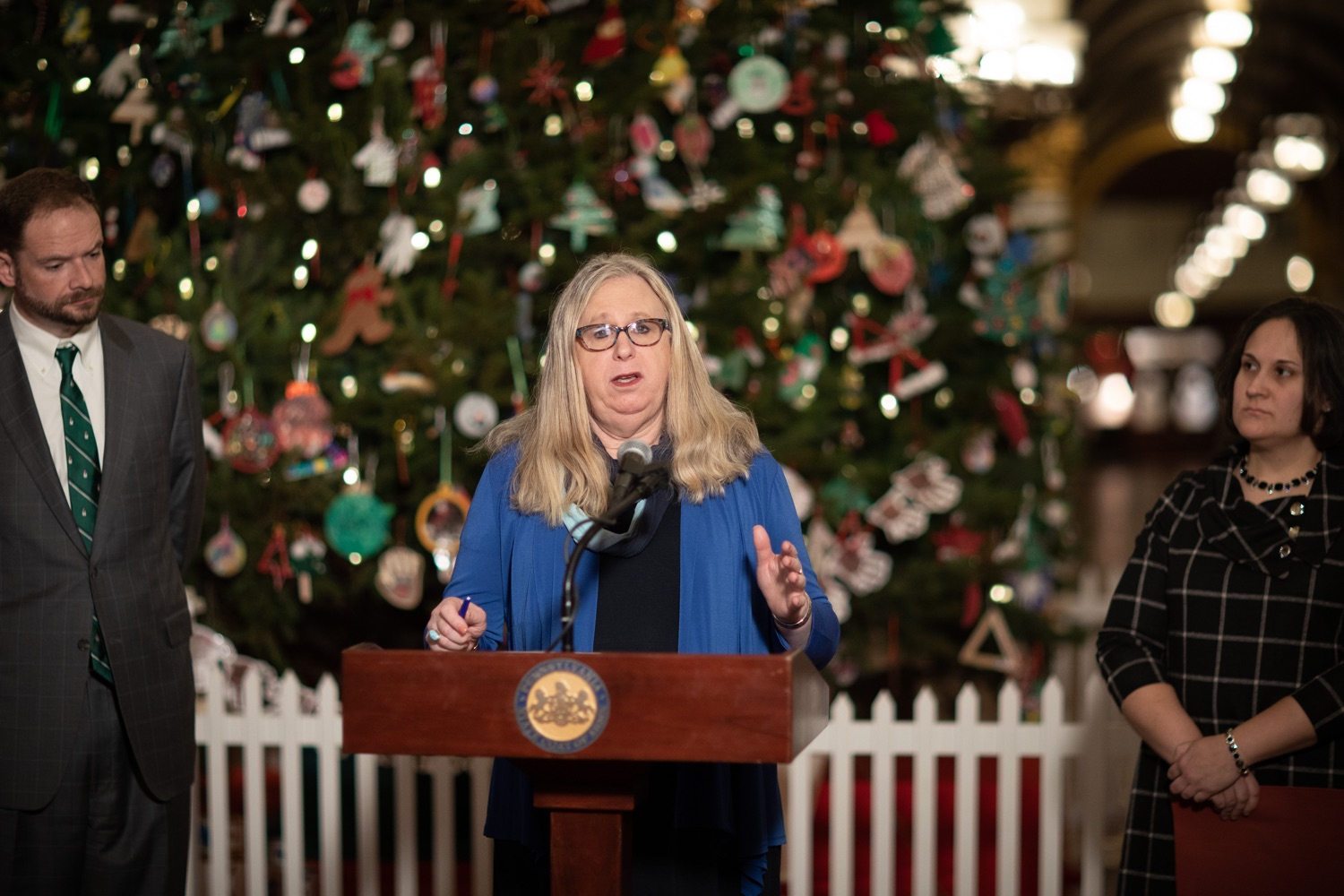 "<a href=""http://filesource.abacast.com/commonwealthofpa/photo/17627_ddap_mental_health_dz_015.JPG"" target=""_blank"">⇣ Download Photo<br></a>Secretary of Health Dr. Rachel Levine Speaking in the Capitol Rotunda.  Today, members of the Wolf Administration spoke in the state Capitol Rotunda to share resources and advice for individuals and families affected by mental health and substance use disorders (SUD) during the holiday season. Harrisburg, PA   December 20, 2019"