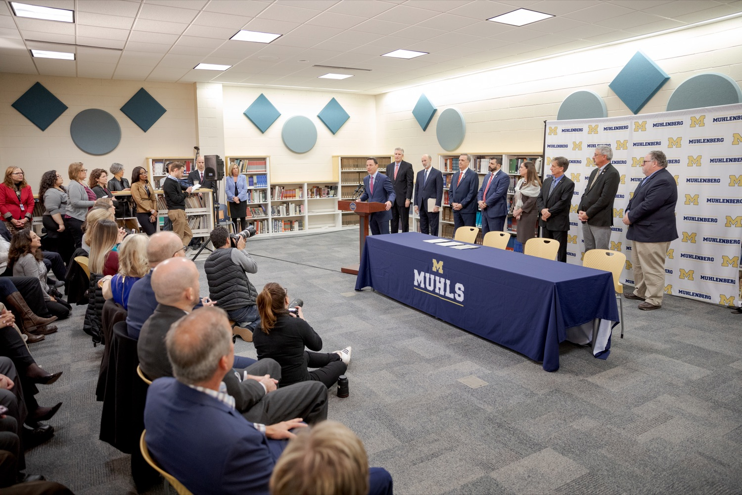 """<a href=""""http://filesource.abacast.com/commonwealthofpa/photo/17628_GOV_AG_Bill_Signing_NK_011.JPG"""" target=""""_blank"""">⇣Download Photo<br></a>Attorney General Josh Shapiro speaks before signing a package of three bills, which mirror three of the Grand Jurys recommendations on addressing the statute of limitations for victims of child sexual abuse, inside Muhlenberg High School on Tuesday, November 26, 2019."""