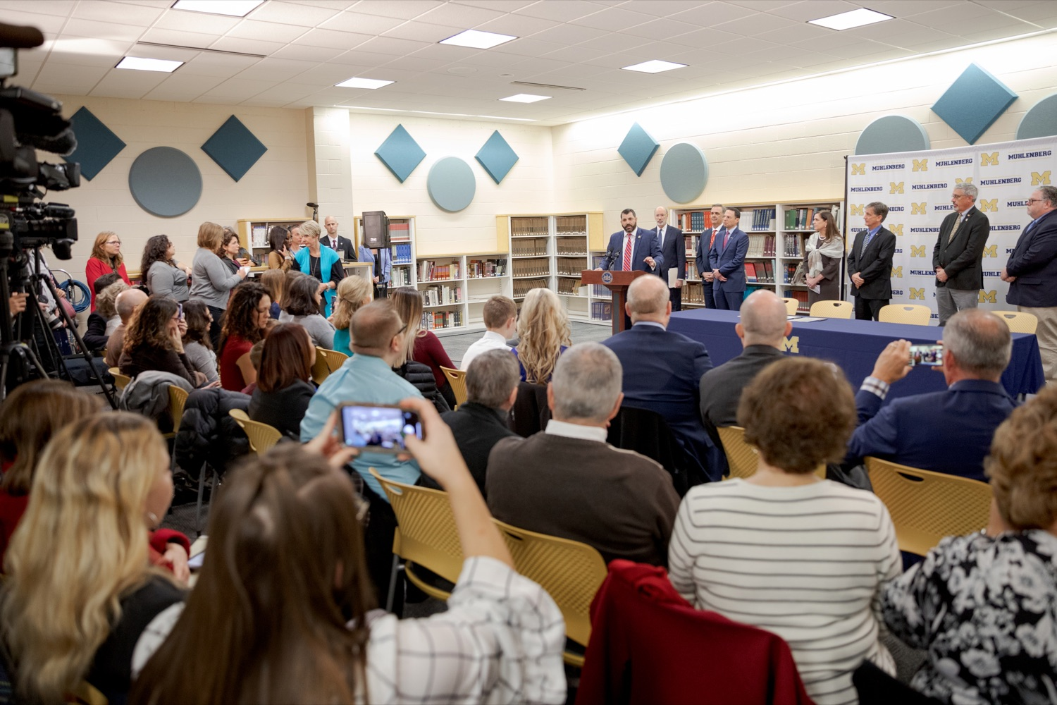 """<a href=""""http://filesource.abacast.com/commonwealthofpa/photo/17628_GOV_AG_Bill_Signing_NK_015.JPG"""" target=""""_blank"""">⇣Download Photo<br></a>State Rep. Mark Rozzi, a survivor of childhood sexual abuse, speaks before signing a package of three bills, which mirror three of the Grand Jurys recommendations on addressing the statute of limitations for victims of child sexual abuse, inside Muhlenberg High School on Tuesday, November 26, 2019. i"""