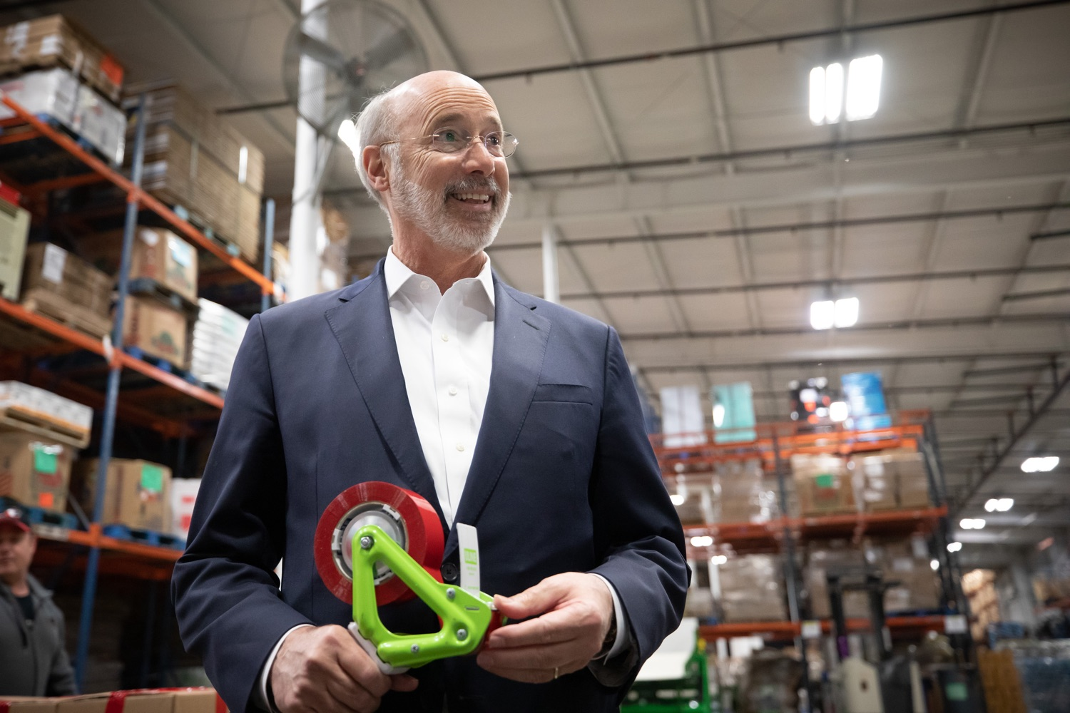 "<a href=""http://filesource.abacast.com/commonwealthofpa/photo/17632_gov_foodbank_volunteering_dz_009.jpg"" target=""_blank"">⇣ Download Photo<br></a>Governor Tom Wolf loading boxes of food at the Central Pennsylvania Food Bank.  The governor and first lady visit the Central Pennsylvania Food Bank in Harrisburg to participate in a volunteer project, packing boxes of food for veterans and their families. Ahead of Thanksgiving and the holiday season, Governor Tom Wolf and First Lady Frances Wolf are reminding Pennsylvanians of the importance of helping each other. Harrisburg, PA  Tuesday November 26, 2019"
