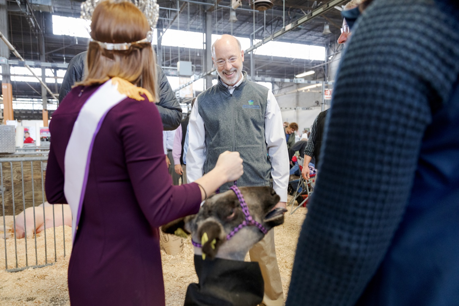 """<a href=""""http://filesource.abacast.com/commonwealthofpa/photo/17648_AGRIC_Opening_Ceremonies_NK_004.JPG"""" target=""""_blank"""">⇣Download Photo<br></a>Pennsylvania Governor Tom Wolf tours the west hall during the kick-off of the 2020 Pennsylvania Farm Show on Saturday, January 4, 2020."""