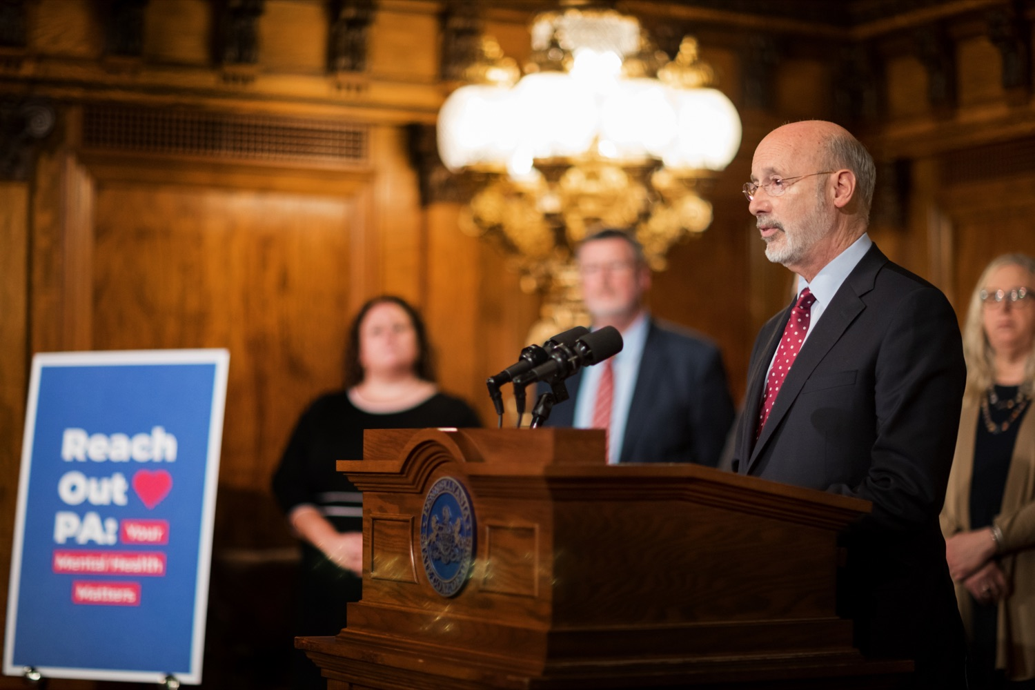 "<a href=""http://filesource.abacast.com/commonwealthofpa/photo/17694_GOV_Mental_Health_NK_004.JPG"" target=""_blank"">⇣ Download Photo<br></a>Pennsylvania Governor Tom Wolf speaks during a press conference inside the Governor's Reception Room at the State Capitol building in Harrisburg on Thursday, January 2, 2020. Governor Wolf announced a focused all-agency effort and anti-stigma campaign, Reach Out PA: Your Mental Health Matters, aimed at expanding resources and the states comprehensive support of mental health and related health care priorities in Pennsylvania."