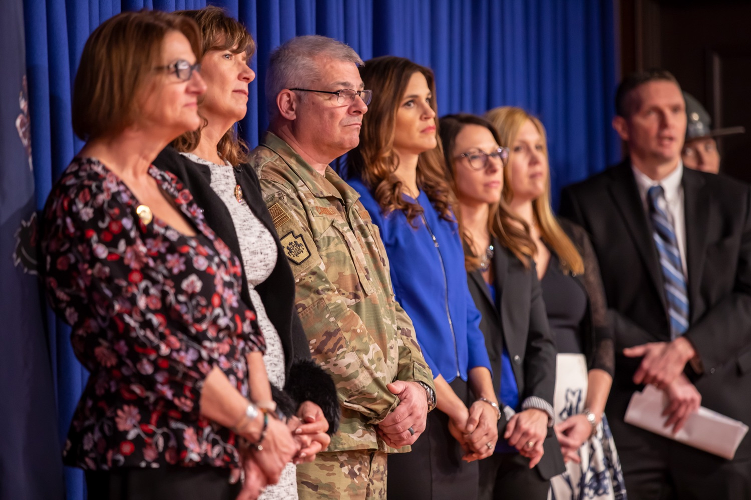 """<a href=""""http://filesource.abacast.com/commonwealthofpa/photo/17711_DHS_SuicidePrevention_AG_11.jpg"""" target=""""_blank"""">⇣Download Photo<br></a>Harrisburg, PA.  Governor Tom Wolf today announced the initial report of Pennsylvanias Suicide Prevention Task Force based on the statewide listening sessions held throughout fall 2019. The work of the Suicide Prevention Task Force is a complement to the goals and strategies surrounding the governors Reach Out PA: Your Mental Health Matters initiative announced earlier this month and his Executive Order to protect vulnerable populations signed last year.  January 14, 2020."""